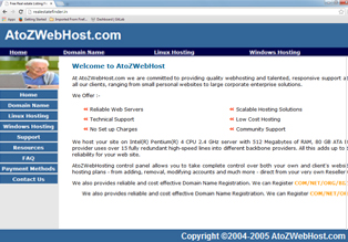 atoz Webhost Website for sale