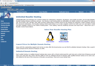 Unlimited Reseller Hosting Website for sale